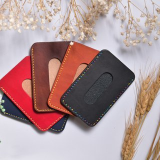 [Mini5] Hand stitching business card holder (brown)