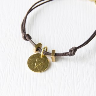 Non-you are / brass plate bracelet