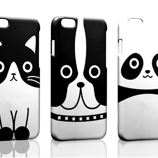 Black and white animal custom Samsung S5 S6 S7 note4 note5 iPhone 5 5s 6 6s 6 plus 7 7 plus ASUS HTC m9 Sony LG g4 g5 v10 phone shell mobile phone sets phone shell phonecase