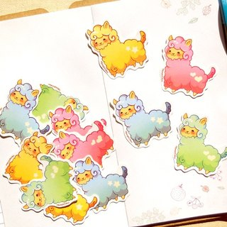 羊駝貼紙 (12入) - Cute Alpaca Stickers