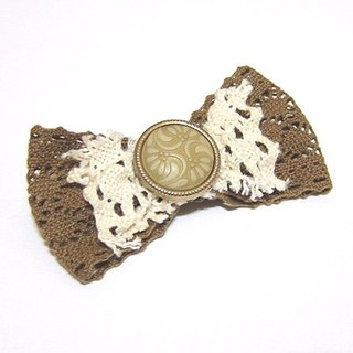 Lace bow brooch
