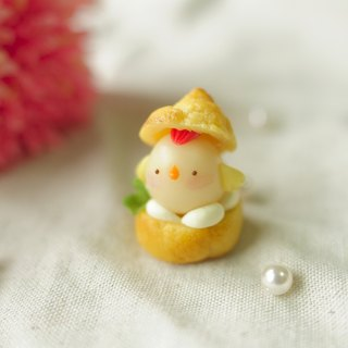☆ Sweet Dream ☆ local flavor vanilla cream puffs chick / phone dust plug