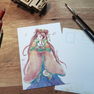 Postcard Goddess costume hero