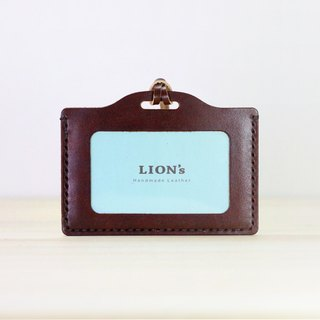 LION's Handmade Leather -- Identification Card / Travel Card Clip