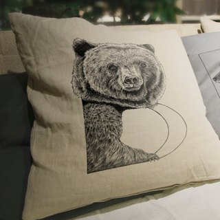 [B] ear Bear: hand-painted letters pillow