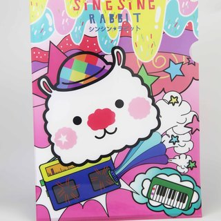 Star Rabbit Sing Sing Rabbit Colorful Hat Folder