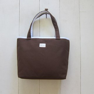 Macaron Series - Chocolate Milk Canvas Medium Tote (NO 19: Macaron Chocolate Milk)