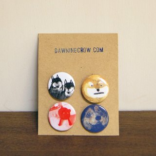 Weird Dog Badges Set