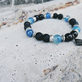 Zhu. The ocean in the black universe (handmade bracelet / couple models / natural stone)