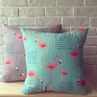Animal friends / flamingo-sided peace of paragraph lunch / 38cm x 38cm medium-sized pillow
