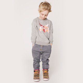 Nordic organic cotton children's wear jeans gray