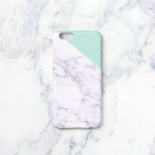 iPhone X case - Melon Mint edge of a marble for iPhones