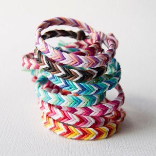 Deep - rough version neutral style / hand-woven bracelet