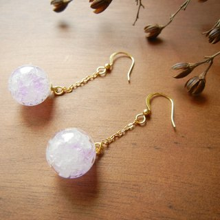 *Coucoubird*Purple White Ice earrings - gold
