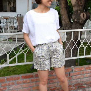 ❀ ❀ flower purple flower pleated shorts