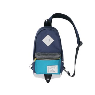 Matchwood Design Matchwood Infantry Pig Nose Shoulder Backpack Messenger Bag Side Backpack Chest Lake Blue
