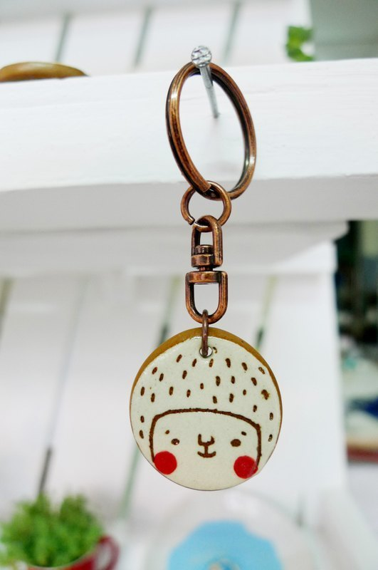 Face face key ring