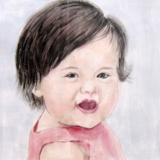 30x30cmCustom Portrait, Child's Portrait, Children's Personalized Original Hand Drawn Portrait from Your Photo, OOAK watercolor Painting Ideas Gift