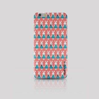 (Rabbit Mint) Mint Rabbit Phone Case - Bu Mali pattern series Merry Boo - iPhone 6 Plus (M0011)