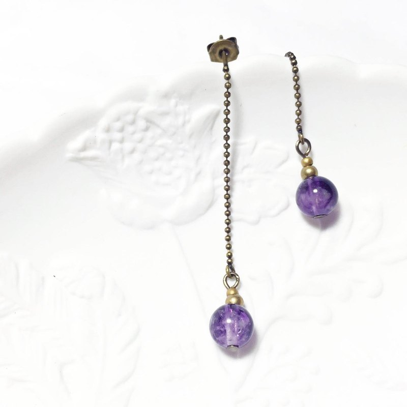 Get it / witch bottle - natural stone amethyst earrings
