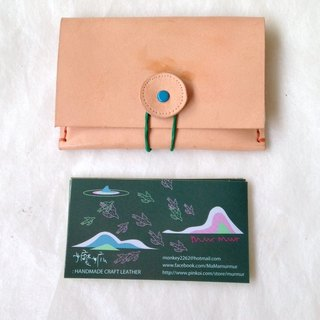 Eyed monster handmade leather business card holder _