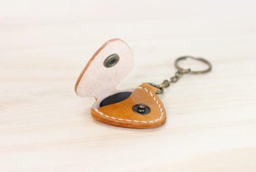 LION's Handmade Leather -- Guitar Pick Case Key Ring