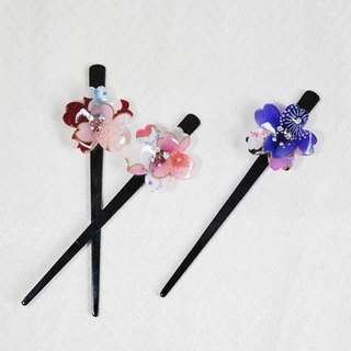 Sakura soft, single cherry, hairpin, hair plug - three colors