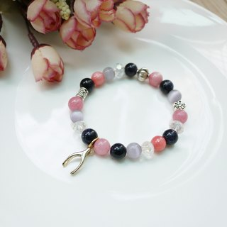 When the harvest / natural stone stained stone bracelet bracelet
