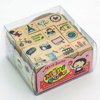 minicute stamp set - come and travel