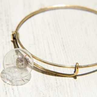 Valentine's Day gift / forest girl / English minimalist glass ball gold bracelet / bracelet - Dandelion Forest