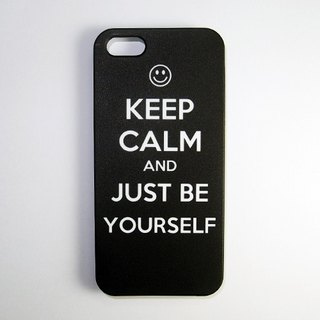 SO GEEK 手機殼設計品牌 THE KEEP CALM GEEK JUST BE YOURSELF款(黑)