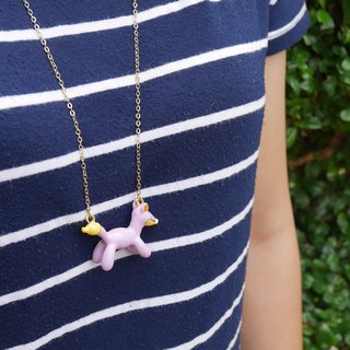 Glorikami Purple Balloon Fox Necklace
