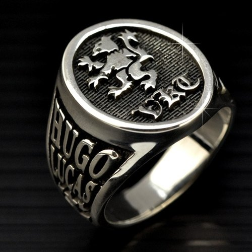 Customized ring .925 sterling silver jewelry RS00004- College / Saddle Ring