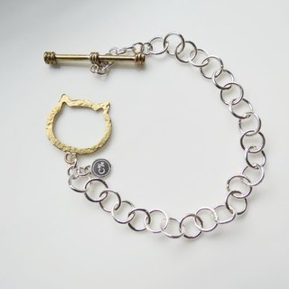 Cat (textured bracelet) - C percent handmade jewelry