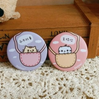 Dollmei pink badge to support you _ _ cute cat 4.4cm