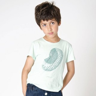 Nordic Organic Cotton Children's Clothing Illustrator Top Green