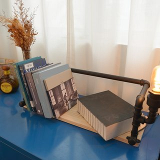 Industrial wind desktop type _ lighting pipe bookshelf (including light bulbs)