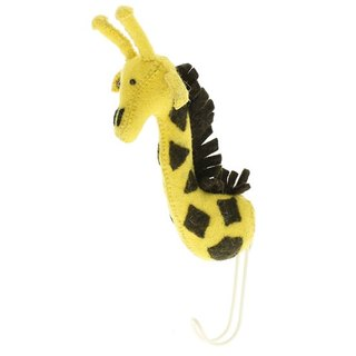 [Fiona Walker England] British style fairy tale animal head handmade Mural - Giraffe Hook (Big Single Head Hook Giraffe)