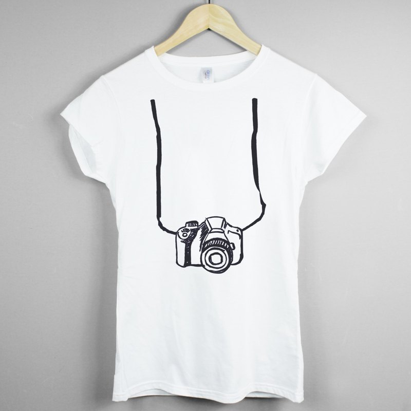 Printed Camera Girl T-shirt -2 color camera photographs Wen Qing art design trendy fashion LOMO