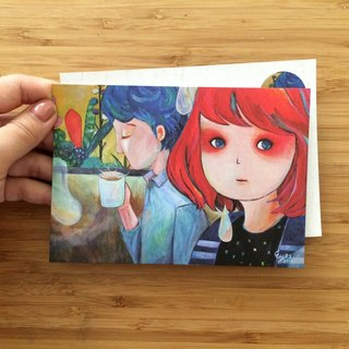 ┇eyesQu┇ guess ┇ illustration postcard