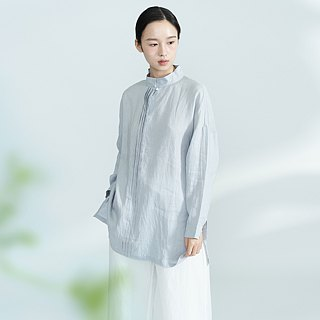 BUFU  the Chinese style boyfriend long-sleeves linen shirt    SH140805
