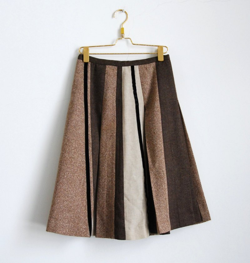 Texture tree vintage wool skirt