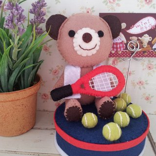 """Mini bear hand as"" tennis Xiongwang Zi [MEMO] business card holder seat"