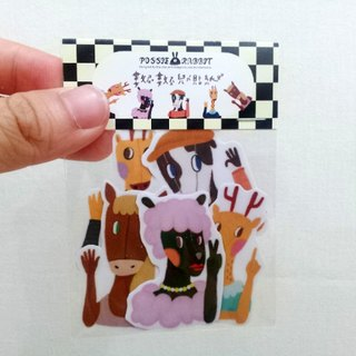 Sticker set to count children