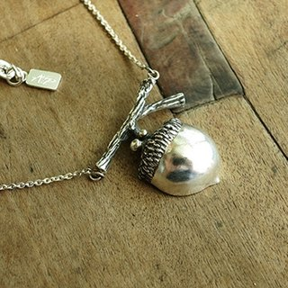 """Acorns child"" handmade sterling silver pendant"