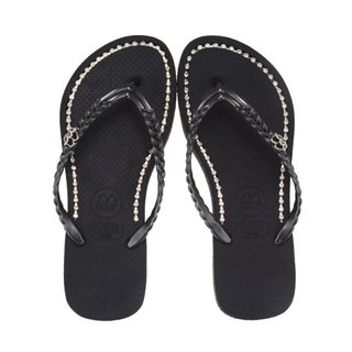 QWQ Creative Design Flip-Flops - Black Diamond - Black [BB0051505]