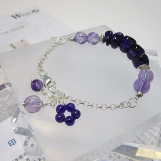From Heart - Natural Amethyst 925 Sterling Silver Bracelet Natural Crystal Hong Kong Design
