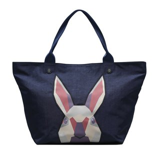 Diamond Rabbit Diamond Rabbit_Lightweight Nylon Money Rolling Ingot Bag_Fashion Blue