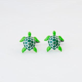 Green Turtle Cufflinks SEA TURTLE CUFFLINKS