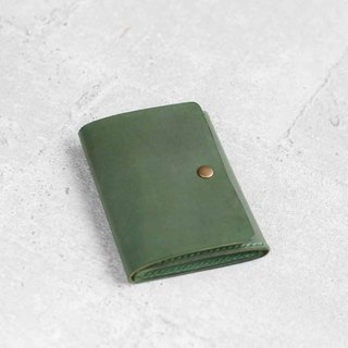 Green leather card holder/wallet